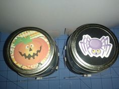 Halloween Center Piece Jars 2&3 Tops