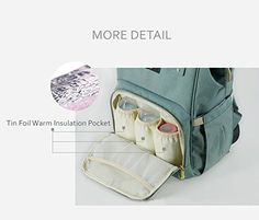 Amazon.com : Sunveno Mummy Maternity Nappy Bag Brand Large Capacity Baby Bag Travel Backpack Desiger Nursing Bag for Baby Care Green : Baby