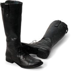 Born Womens Gilmore in Nero Leather