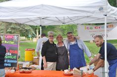 Clarkston Chamber Board of Directors scooping Cooks Farm Dairy Ice Cream, week 2 of Concerts in the Park 2015.