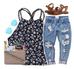 """""""Vibes"""" by sassysouthernprep99 ❤ liked on Polyvore featuring Hollister Co., S'well, Steve Madden, One Teaspoon, Lilly Pulitzer, tarte, Forever 21, MICHAEL Michael Kors and Ray-Ban"""