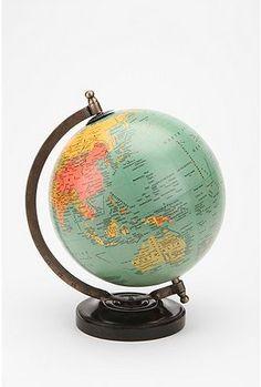 mini globe via Urban Outfitters