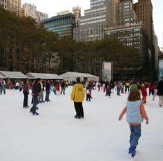 Bryant Park Ice Rink - New York City  #Yuggler #KidsActivities #IceSkating