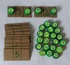 Montessori math activity- tot tray