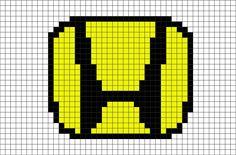 8 Bit Art, What To Do When Bored, Minecraft Pixel Art, Honda Logo, Art Logo, Perler Beads, Superhero Logos, Beats, Lego