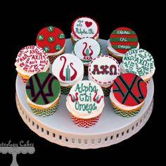 Alpha Chi Omega cupcakes!