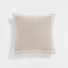 Image of the product Natural colour appliqué ribbon linen cushion cover