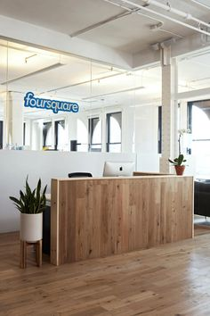 FourSquare Office Reception. More Foursquare tis at http://getonthemap.us/foursquare/blog #573tips #foursquare