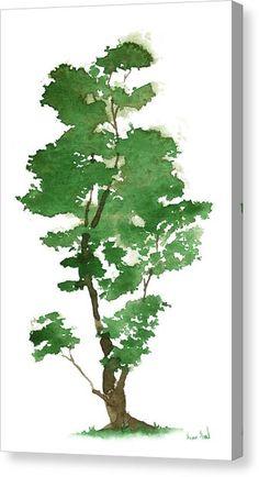 Zen Painting - Little Zen Tree 344 by Sean Seal Watercolor Trees, Easy Watercolor, Watercolor Landscape, Landscape Paintings, Watercolor Paintings, Watercolors, Tree Photoshop, Zen Painting, Painting Trees
