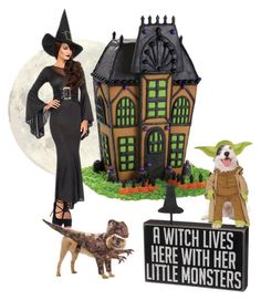 """A Witch Lives Here"" by auntmidnight ❤ liked on Polyvore featuring art"