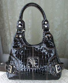 94b4fe0290af Genna De Rossi Hobo Bag   Black Silver  19.95..I have about 4