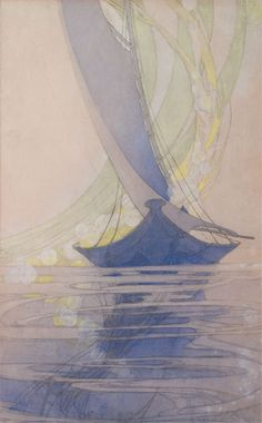 The Boat to Fairyland ; c. 1916-22 ; Bertha Lum - an amazing print, the detail is hard to see in this size but this great website has pics of the details.
