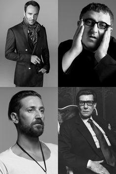 ysl-Tom Ford, Alber Elbaz, stefano Pilati and the grand master blaster: Mr. Saint Laurent himself.