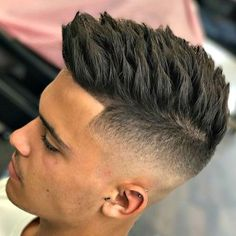 High Skin Fade + Textured Spiky Hair