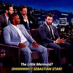 Civil War Cast on Jimmy Kimmel | Chris Evans and Sebastian Stan