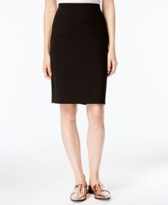 Maison Jules Frankie Pencil Skirt, Only at Macy's - Black XXL
