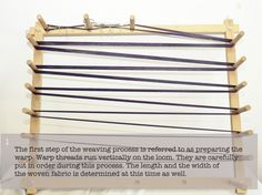 step 1 in weaving process