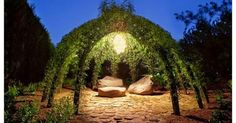 We love this living willow outdoor structure that gives you another living room in your garden ! Look so romantic ! More Living Willow Str...