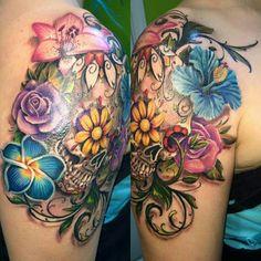 Ideas For Tattoo Sleeve Vrouw Vlinder - tattoo sleeveo Shoulder Cap Tattoo, Shoulder Tattoos For Women, Sleeve Tattoos For Women, Neue Tattoos, Body Art Tattoos, Tatoos, Pretty Tattoos, Beautiful Tattoos, Feminine Skull Tattoos