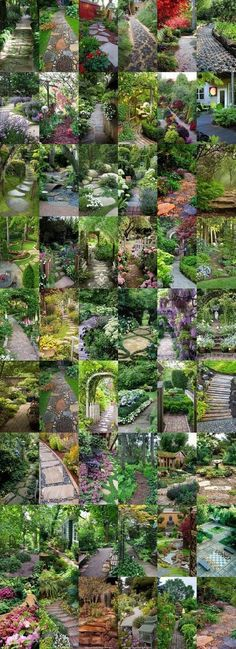 54 Spectacular Garden Paths @styleestate #GardenPath (sloped backyard landscaping walkways)
