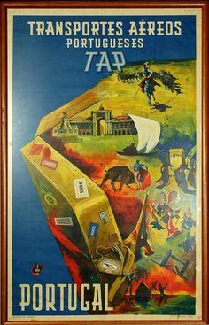 Vintage Travel Poster - Portugal -.