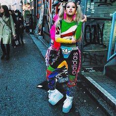 Hirari Ikeda wearing Jeremy Scott x adidas