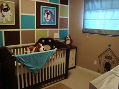 Personalized dog themed baby room. Of course I would do this with Chihuahua's :)