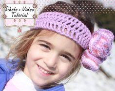 Crochet Pattern PDF  Headband & Funky Flower by TheSingleCrochet