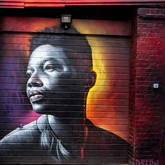 A collection of street art shutters painted around East London