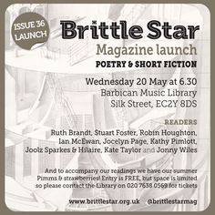 Brittle Star issue 36 Launch at Barbican, London