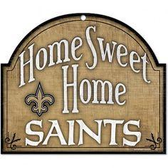 Saints Home Sweet Home Arched Wood Sign #Saints #NOLA #Home #WhoDat