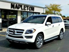 Take a look at the New 2015 Mercedes-Benz GL-Class GL350 BlueTEC. White exterior with Auburn Brown leather interior! AWD 4-MATIC.
