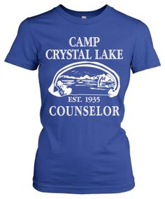 Womens Camp Crystal Lake T-Shirt (Classic Horror Movie Shirts) me and jr Halloween Movie T Shirts, Cool T Shirts, Classic Horror Movies, Ugly Sweater, Sweaters, T Shirts For Women, Clothes For Women, Fall Winter Outfits, Cute Outfits
