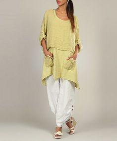 Take a look at this Lila Rose: Lime Audrey Tunic by Lila Rose on #zulily today!
