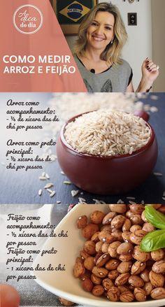 NDIVIDUAL): Para nunca sobrar ou faltar comida! Não desperdice arroz e feijão! Confira o guia da Flávia Ferrari e veja a quantia ideal de arroz e feijão por pessoa. Evita que a comida estrague e todos ficam satisfeitos. Veja como calcular a quantidade correta para fazer tanto arroz quanto feijão para apenas uma pessoa, seja ele prato principal (risoto, arroz de forno, feijoada) ou acompanhamento. | #ADICADODIA