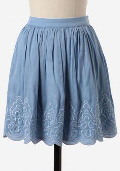 #Ruche                    #Skirt                    #Haute-savoie #Embroidered #Skirt                   Haute-savoie Embroidered Skirt                                                http://www.seapai.com/product.aspx?PID=496042