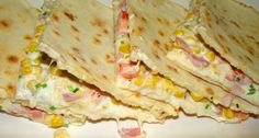 quesadillas :: Ami a konyhámból kikerül Tortilla receptje: 50 dkg liszt, Lunch Recipes, Mexican Food Recipes, Dinner Recipes, Ethnic Recipes, Tortilla Burrito, Quiche Muffins, Best Egg Salad Recipe, Bread Dough Recipe, Baked Eggplant