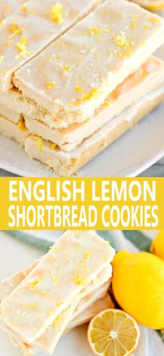 English Lemon Shortbread Strips are tender butter laden morsels that will have you begging for more. English Lemon Shortbread Strips are tender butter laden morsels that will have you begging for more. Mini Desserts, Cookie Desserts, Just Desserts, Cookie Recipes, Desserts Keto, Plated Desserts, Lemon Dessert Recipes, Sweet Recipes, Baking Recipes