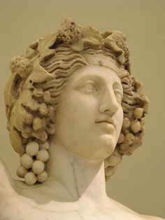 Dionysus - variant of the Apollo Lyceus statue type - Late 2nd century AD reworking of an original of the 4th century BC - Naples, Archaeological Museum (Detail)