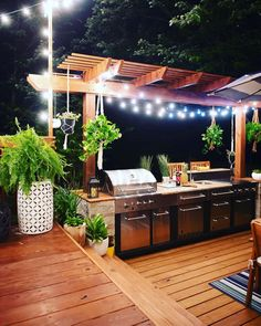 Whether you're interested in the creating the great outdoor kitchen design, outdoor bar, outdoor bbq, outdoor pizza oven or each of the above, we're here to help design the ideal space … Modern Outdoor Kitchen, Outdoor Kitchen Bars, Backyard Kitchen, Summer Kitchen, Small Outdoor Kitchens, Backyard Pergola, Pergola Kits, Backyard Patio Designs, Backyard Landscaping