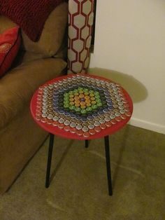 Bottle cap table art