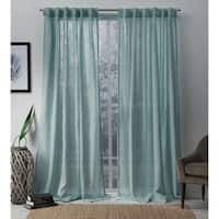 Shop for Archaeo Slub Textured Linen Blend Grommet Top Curtain. Get free delivery On EVERYTHING* Overstock - Your Online Home Decor Outlet Store! Curtains 1 Panel, Sheer Linen Curtains, Tab Top Curtains, Home Curtains, Printed Curtains, Hanging Curtains, Window Curtains, Light Blue Curtains, Curtain Styles