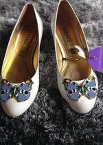 Versace for H&M Ballerina Schuhe Weiß echtes Leder Gr.39 neu Ballerinas