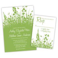 Secret Garden Wedding Invitations by ImpressInk on Etsy, $50.00