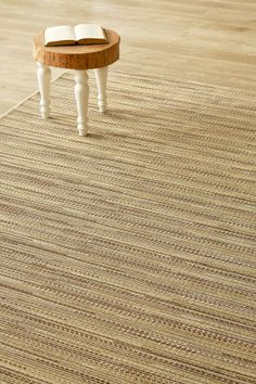 Corn Fine Line (2 X 3): Water-resistant, durable poly-propylene woven flatweave (2 X 3 m). Add texture t...