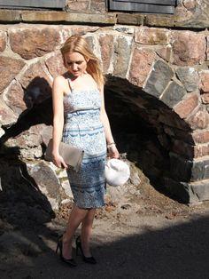 Samuji Dress // YSL Clutch // Aldo Pumps Skirt Pants, Ysl, Aldo, Fashion Shoes, Pumps, Blazer, Formal Dresses, My Style, Womens Fashion