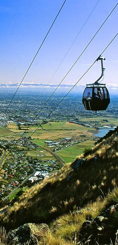 New Zealand Travel Inspiration - Mt. Cavendish Gondola And Heathcote Valley, Christchurch, South Island, New Zealand Living In New Zealand, Visit New Zealand, New Zealand Travel, Great Places, Places To See, Beautiful Places, Islas Cook, New Zealand Adventure, Christchurch New Zealand