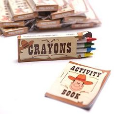 Sheriff Callie's Wild West Party Favors | Goody Guides Western themed crayons and activity book-comes 12 to a package.