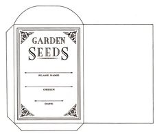 template for seed packets - Yahoo Image Search Results
