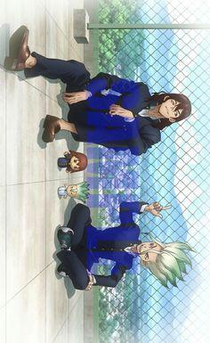 Dr Stone Sukasa and Zenku Best friend 😢 Otaku Anime, Manga Anime, Anime Art, Nisekoi, Fanarts Anime, Anime Characters, I Love Anime, Anime Guys, Anime Rock